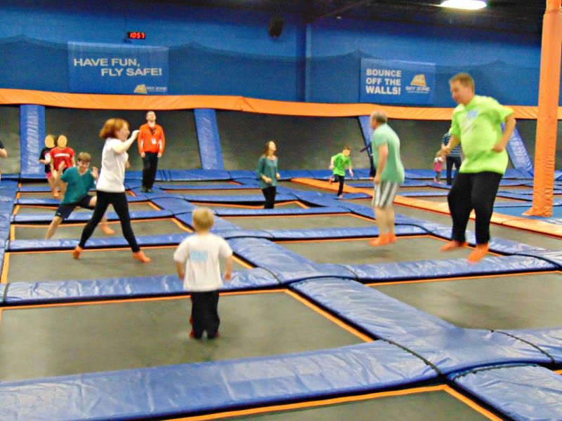 2015 Spring Into Spring Event at Skyzone