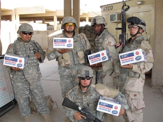 Soldiers Receive Care Packages