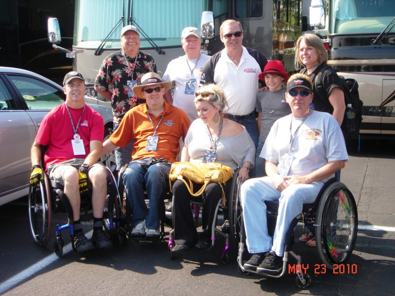 Cody Unser, Al Unser Jr., and some of the CUFSF dive team members