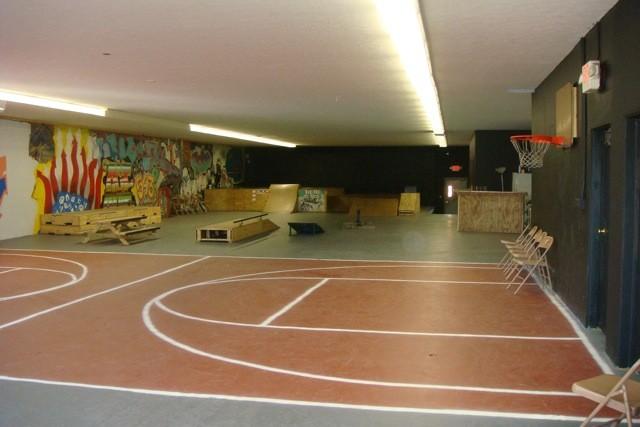 Our facility - basketball & skateboarding area