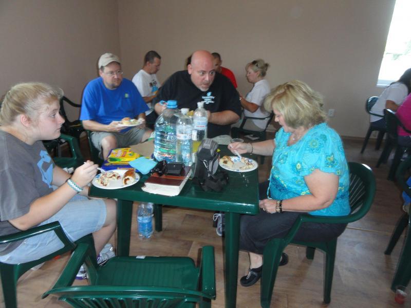 Our Summer 2012, GA team enjoying dinner
