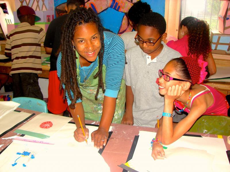 Afterschool art class