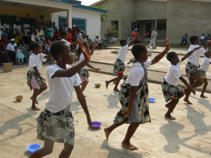 African folk dancing at Village of Hope Orphanage