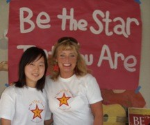 Vivien Lee and Cynthia Brian recruit volunteers