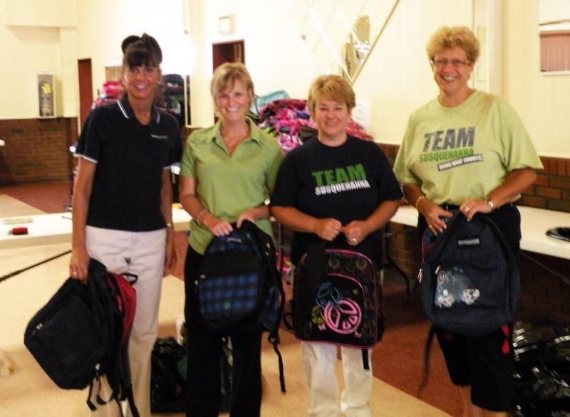 Susquehanna Bank volunteers at Opeation Backpack