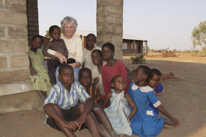 President Mary at Kasimu School