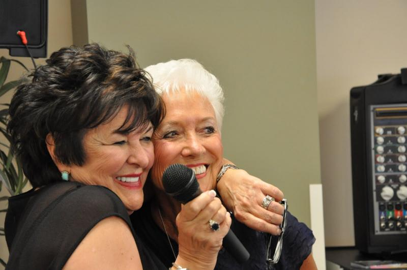 a big hug for our speaker, Glenna Salsbury from Founder Barbara MacLean
