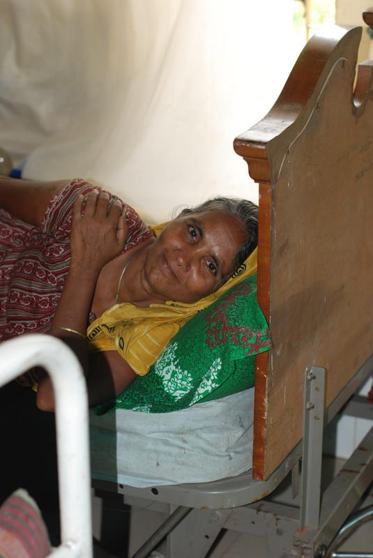 A fistula patient recovers at HOPE Hospital in Bangladesh.