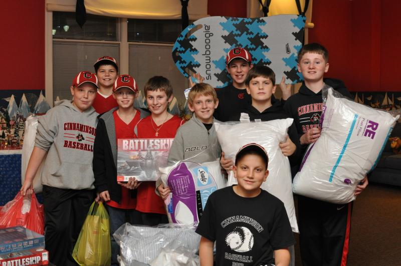 Local Baseball Team Collects Donations