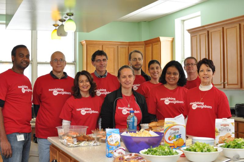 Campbell Soup lunch volunteers