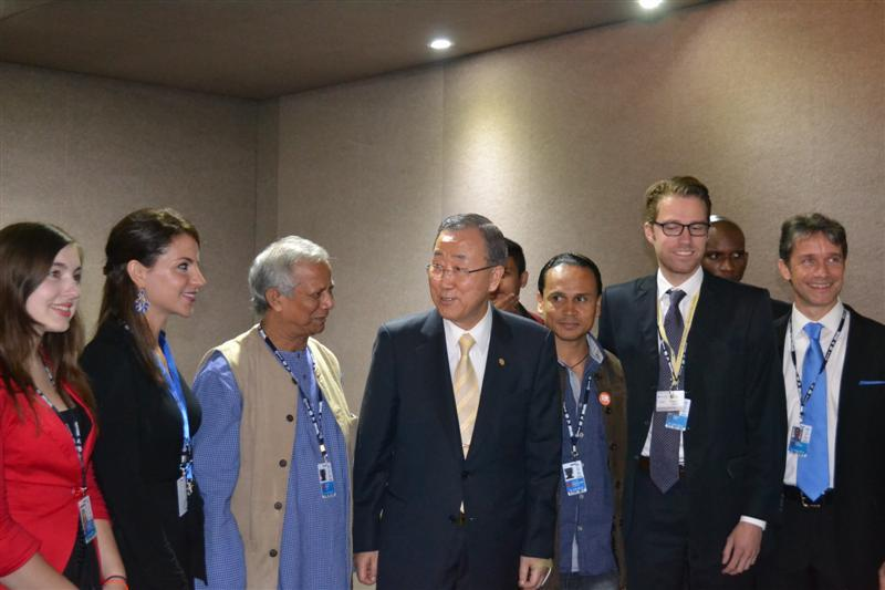 Mohamed Yunus and UN Secretary-General Ban Ki-moon, at Rio+20