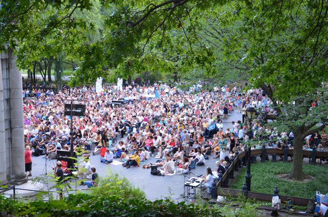 Crowd at 7 August 2102 Naumburg Orchestral Concert, Concert Ground, Central Park