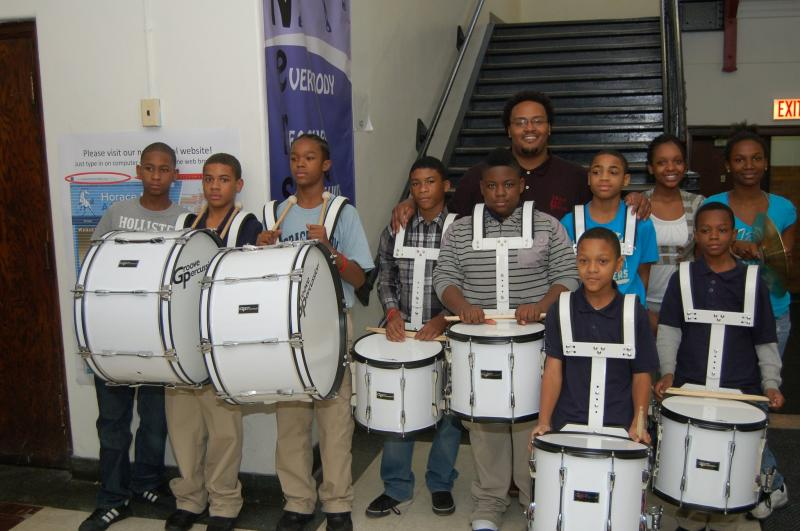 Horce Mann Drum Line - one our in school programs