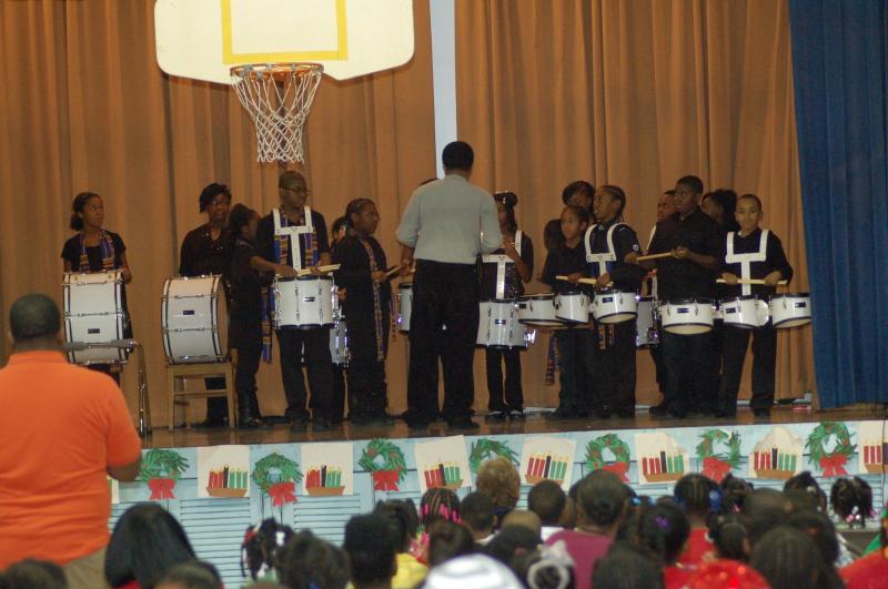 Pirie School Drum Line - Another In School Program