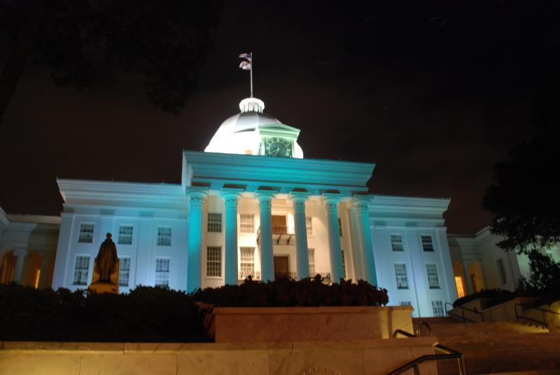 We lit the Alabama State Capitol in teal for awareness.