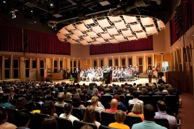MiraCosta's concert hall was filled at the MiraCosta College Foundation's Annual Scholarship Awards Celebration