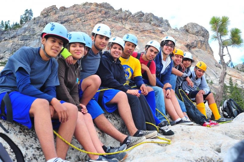 Climbing in the Sierras with ARC (Adventure Risk Challenge) students