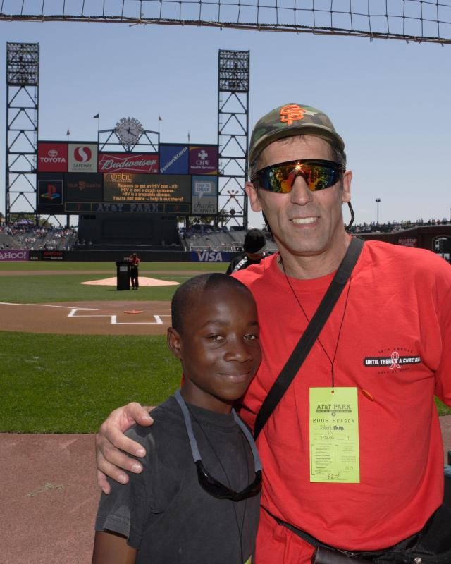 Camper Darnell & Program Director at Giants Until There A Cure