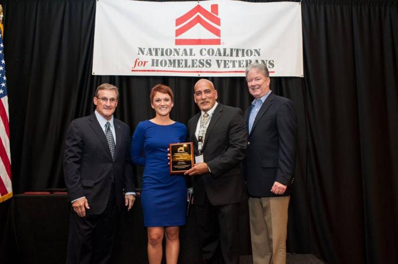 Dave Lopez (2nd from right), Deputy Director for Programs and Operations at Swords to Plowshares, who received the 2015 Unsung Hero Award from the National Coalition for Homeless Veterans