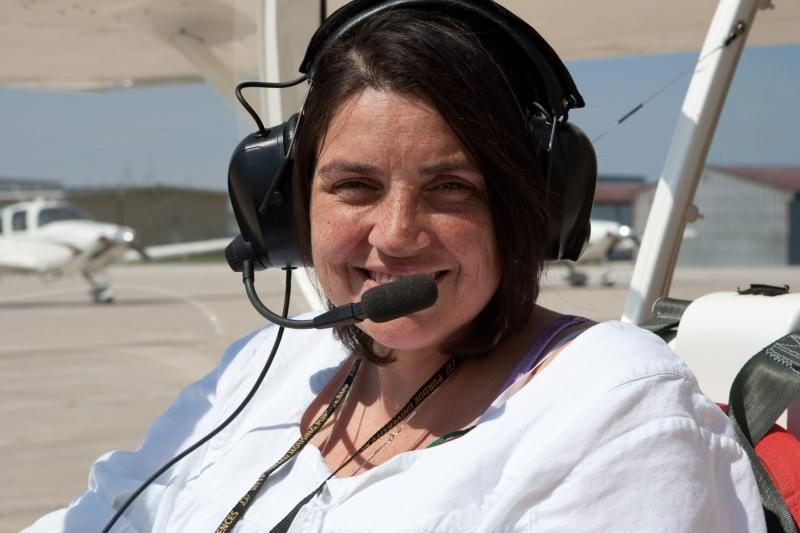 Deidre Dacey of MA earned her pilot's license in 2013.