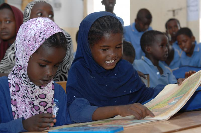 Girls in Djibouti happy to read