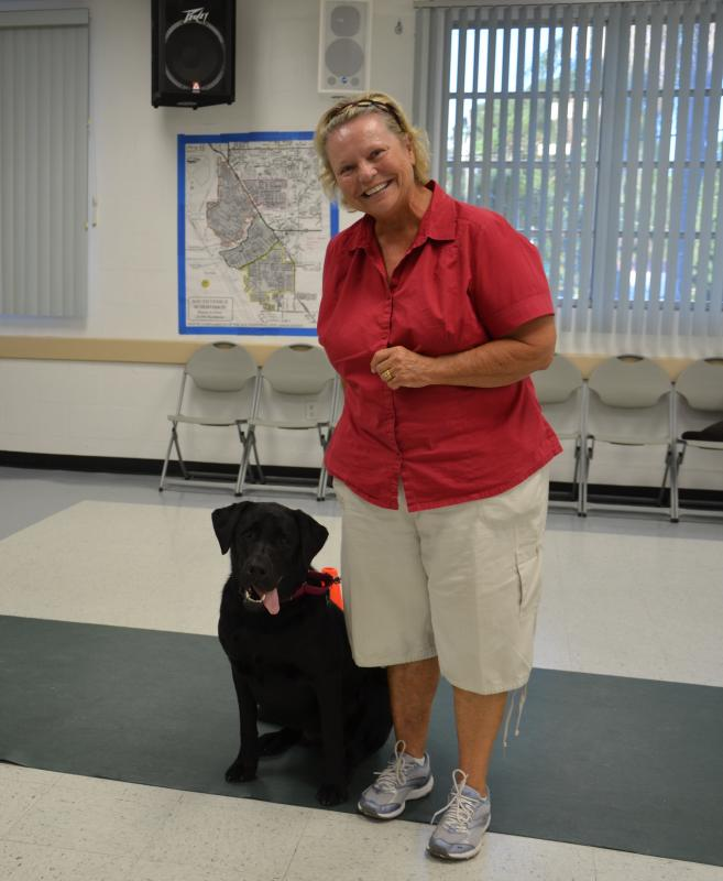 Our canine obedience classes help strengthen the bond between dog and owner!