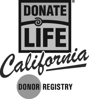 Donate Life California logo - black and white
