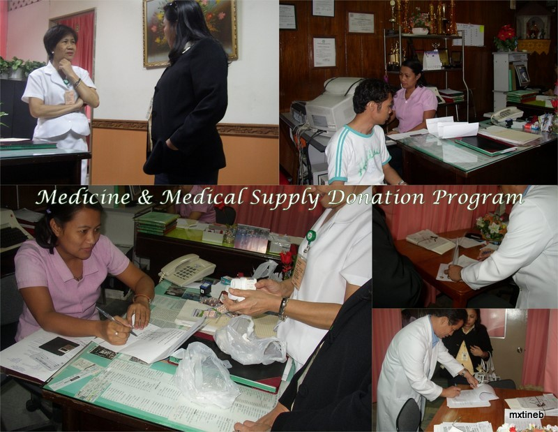 Donated Medication to Vicente Soto Hospital 2008