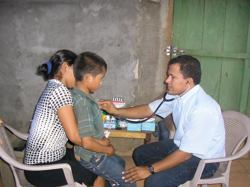 Rainbow Network Doctor Treating Patient in Rainbow Network Clinic