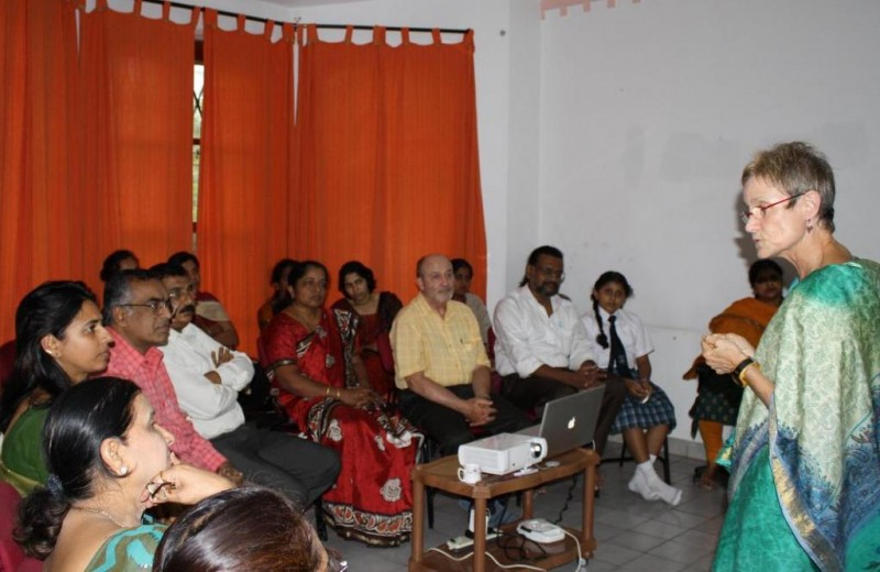Dr. Rhoda teaching in Mysore