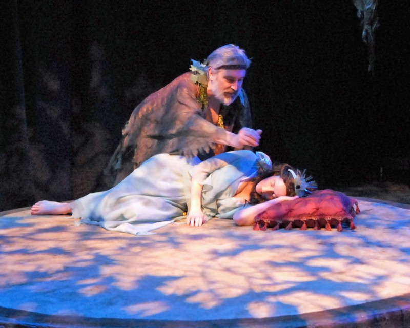 Michael Hajek and Susanna Baddiel as Oberon and Titania from ASC's A Midsummer Night's Dream