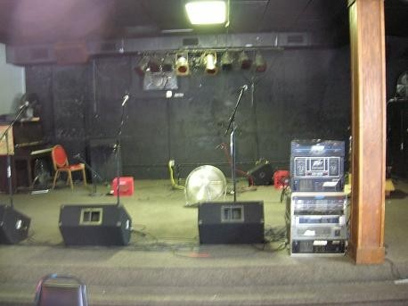 stage for the Academy of Rock's first concert