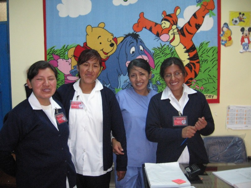 Staff at the Senkata Clinic in Bolivia