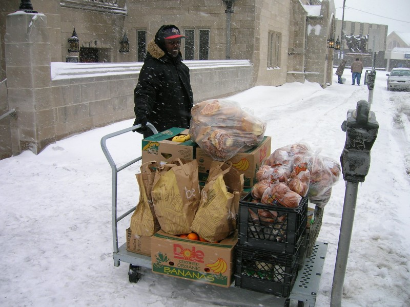 Snowy Food Pantry