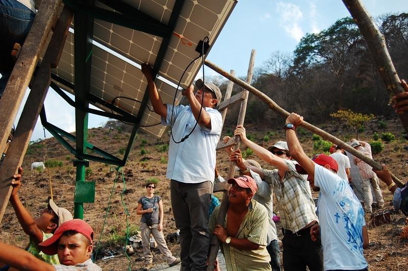 Solar Water Pump Install, El Jocote, Nicaragua, April 2011.