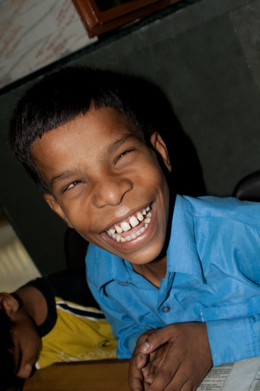 Another child at an eye camp at a Blind School in New Delhi