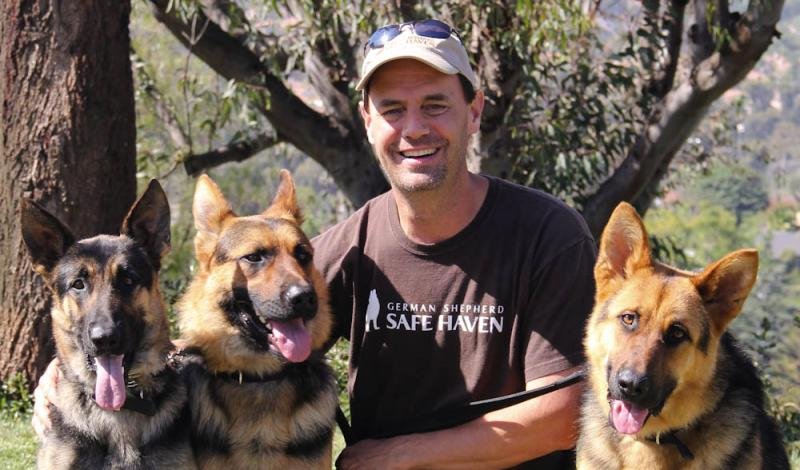 Tom ~ Founder with Faith, Zach and Yukon.