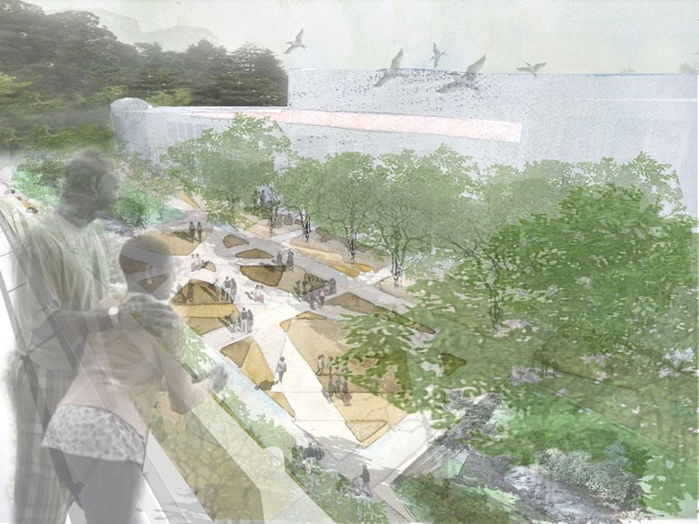 Berkeley eco plaza project with Walter Hood