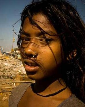 India - Girl with Landfill