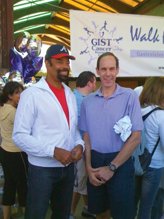 Dr. Brian Druker, GIST Cancer Researcher and  Walt Frazier