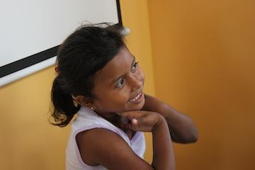 Frangie, 5, one of Clinica Verde's cherished patients.