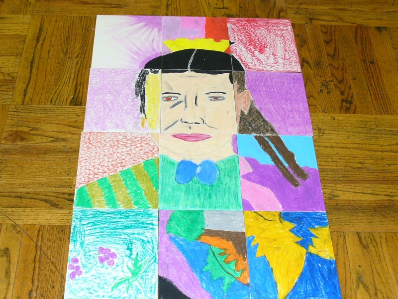 One of our group portraiture art projects with Art for Well Beings