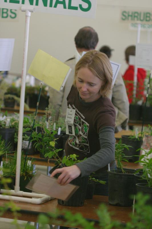 Milo Baker chapter plant sale volunteer