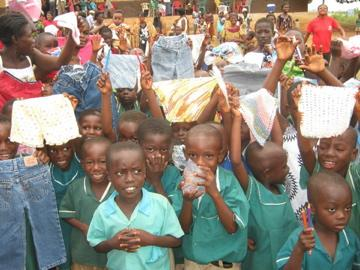Children in Ghana receive school supplies from Self-Help