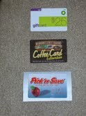Some of the gift cards we bless parents with