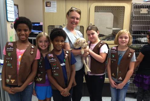 Visit from Girl Scout Troop 1310, October 2013