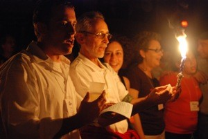 Havdallah is a highlight at all Hazon events