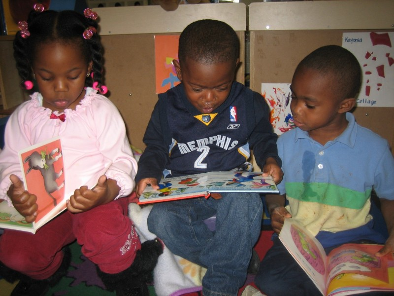 Children at Grace Eaton Day care love to read.