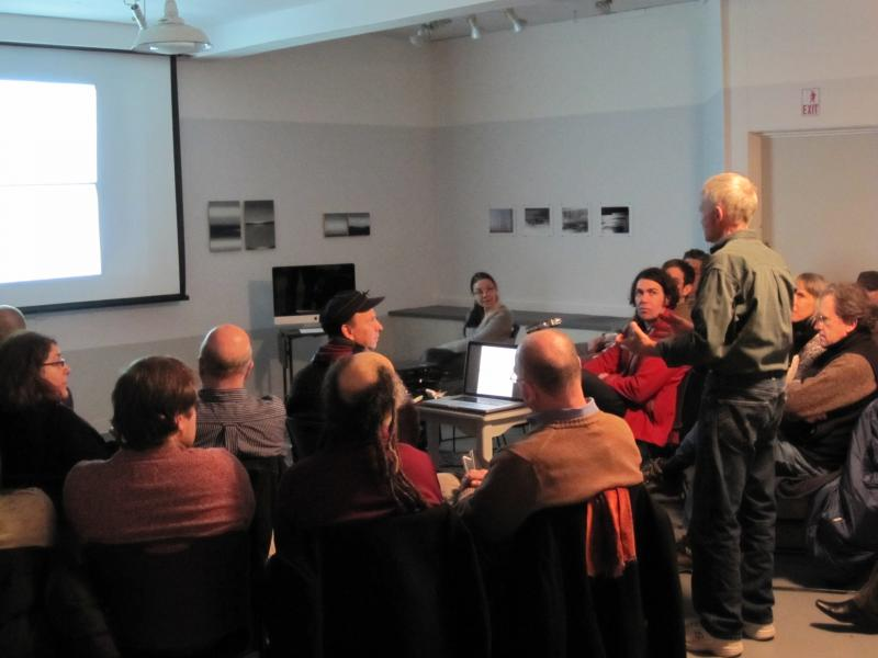 Poet/artist Robert Grenier presents his unique drawn poems in Woodland Pattern's gallery, March 2012