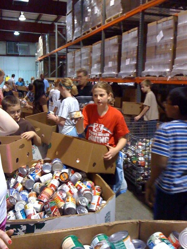 Sorting food donations